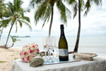 clifton beach wedding table setting
